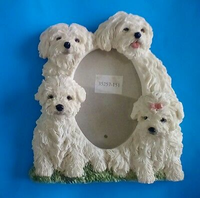 "MALTESE Puppy Dog Picture Stand Up Photo Frame for 3.5"" X 5"" Size Photo"
