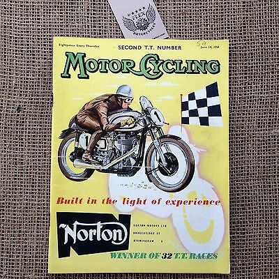 Motor Cycling Magazine - Second TT Number - June 14 1956