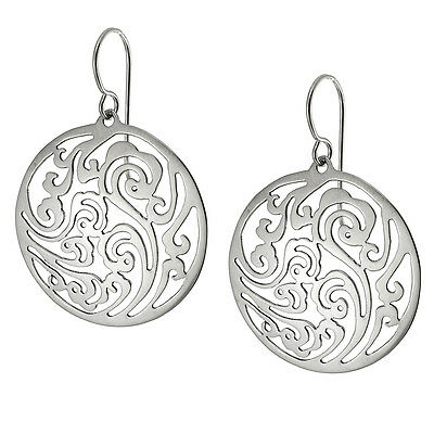 TAXCO STERLING SILVER 925 CUT OUT ROUND DROP EARRINGS - Mexico 925 Jewelry
