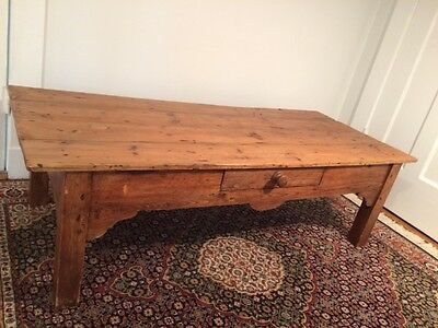 Antique Pine Coffee Table from England