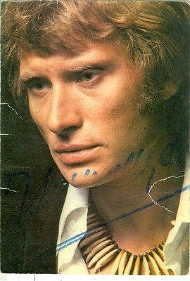 CPSM Philips Johnny Hallyday dédicace manuscrite authentique 1973 je t'aime je t