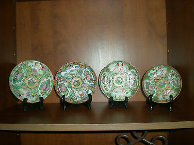 Late 19Th Early 20Th Century Rose Medallion Famille Rose Saucers