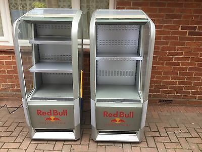 1 Of 2 RED BULL OPEN DISPLAY SELF SERVICE DRINKS DISPLAY FRIDGE CHILLER