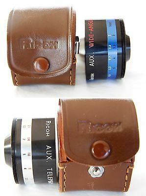 Vintage Ricoh Aux Telephoto Lens And Wide Angle Lens For 2.8 / 4.5Cm Camera Oem