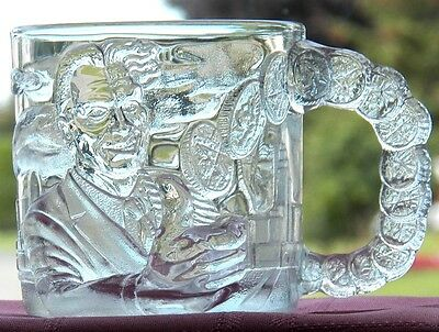 Collectible Glass Mug/cup Mcdonalds© Batman™ Forever 1995 Two Face™ Double Face™