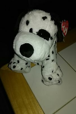 TY Pluffies Dotters the dalmation RARE! tags attached