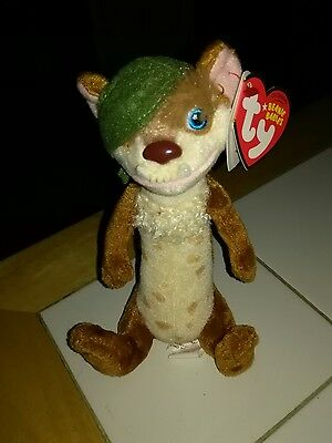 TY beanie baby Buck Weasel from Ice Age Movie with tags