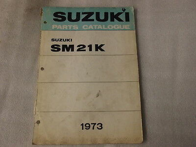 Suzuki Sm21K Parts Catalogue  1973   4