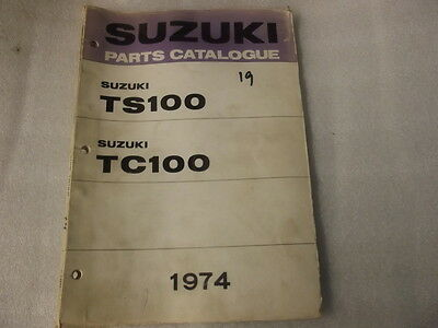Suzuki Ts100 Tc100   Parts Catalogue  1974 19