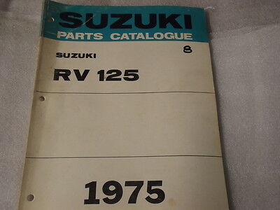 Suzuki Rv125  Parts Catalogue  1975 8