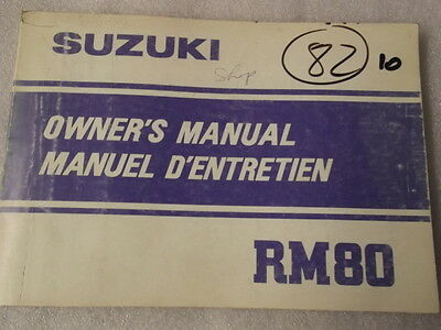 Suzuki Rm80  Owners Manual 1983/84   10