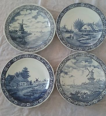 4 Vintage Delftware Boch Royal Sphinx Charger Wall Plate