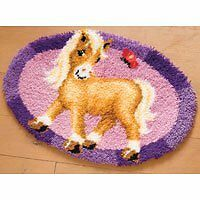 Vervaco Pony Shaped Rug Latch Hook Kit, Multi-Colour