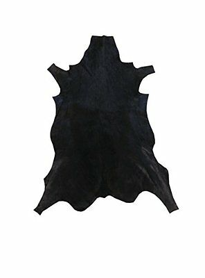 African leather carpet gazelle. Dyed black. Size: 43 x 30 inches. 100% Natural.