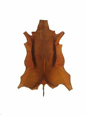 African leather carpet gazelle. Dyed brown. Size: 43 x 30 inches. 100% Natural.