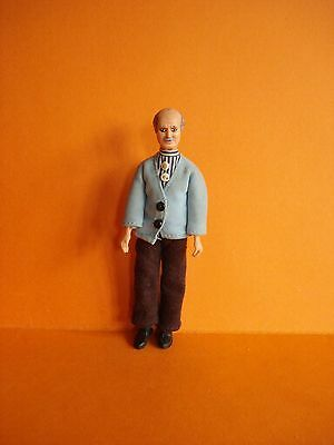 VINTAGE DOLLS HOUSE - 1970s LUNDBY GRANDFATHER GEORGE DOLL