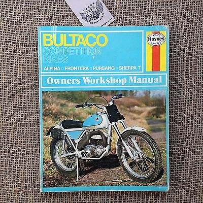 Bultaco Competition Bikes Alpina Frontera Pursang Sherpa T - Haynes Manual