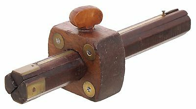 Sholl's Patent Four Beam Mahogany Marking Gauge - Patented March 8, 1864