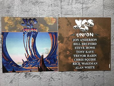 Yes Union RARE promo 12 x 12 poster flat '91