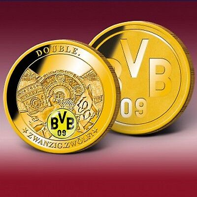 BVB Dortmund Double Sieger 2012 Vergoldet Proof
