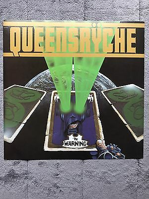 Queensryche The Warning RARE promo 12 x 12 poster flat '84