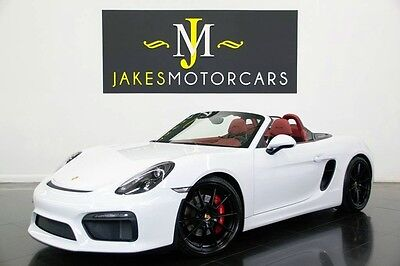 2016 Porsche Boxster Spyder 2016 Porsche Boxster Spyder, CARRERA WHITE/ RED, 2K MILES! CARBON BUCKETS SEATS!
