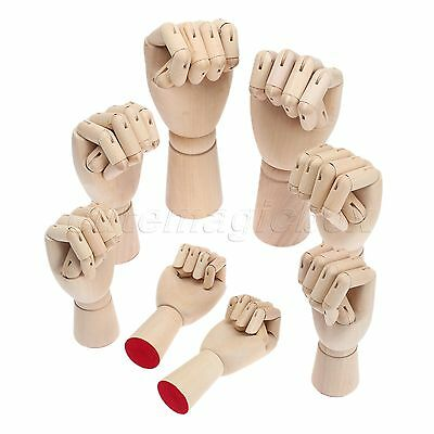 Collectible Craft Wooden Right Left Hand Model Jointed Movable Fingers Mannequin