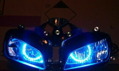 Honda CBR1000RR 2004-2007 Custom Headlight assembly Red Angel eyes and remote