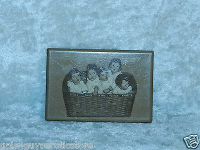 Vintage 2x3 Mirror 1936 by NEA Services INC Babies Kids in a Basket