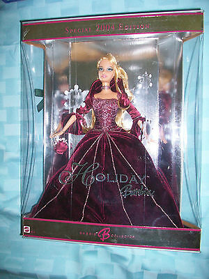 Holiday Barbie 2004 BURGANDY DRESS RARE