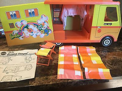 Vintage 1971 Mattel Barbie Country Camper W/ Box