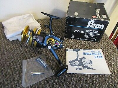 Vintage Penn 750Ss Hi-Speed Skirted Spool Spinning Reel Mint Brand New In  Box