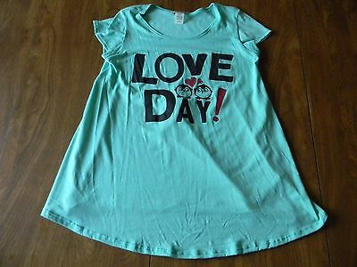 My Lil Bump Maternity Size Small Green Love Day S/S T Shirt Top Ships Free NWT