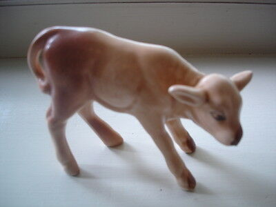 ANTIQUE VINTAGE SylvaC CHINA CERAMIC PORCELAIN CALF COW ORNAMENT FIGURINE