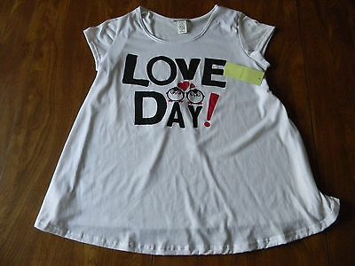 My Lil Bump Maternity Size Medium White Love Day S/S T Shirt Top Ships Free NWT
