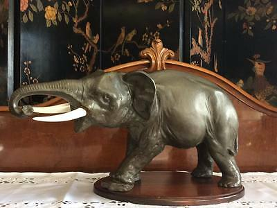 Royal Doulton Fighter Elephant statue made in England