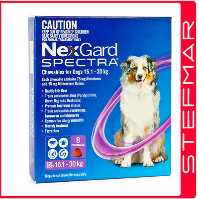 NexGard Spectra Chews For Dogs Large 15.1-30kg 6Pack