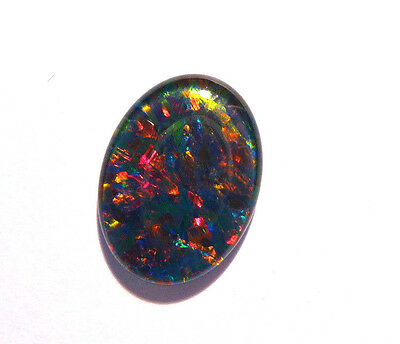 Brilliant Multicolours Australian Opal Triplet, Gem grade, 16x12 mm (#2648)