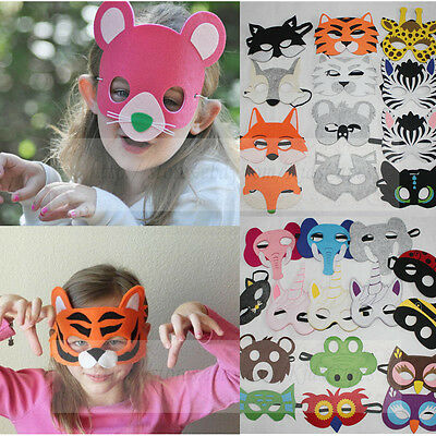 Kids Animal Masks Animal Wolf Tiger Fox Costume Halloween Party favor Felt mask