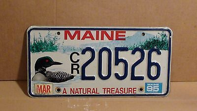"1995 Maine ""Loon/A Natural Treasure"" License Plate (CR 20526)"