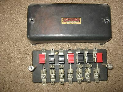 SUPERIOR SWITCHBOARD Steampunk Vintage Electric Knife Switch Panel CANTON OHIO