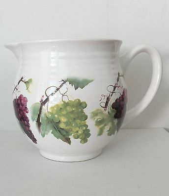 Fine Looking Pitcher Made Exclusively For Gourmet Du Village Red & Green Grapes