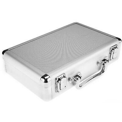 New Flight Briefcase Holder Aluminum Tool Box Case With Foam Backing