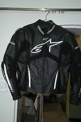 Black Atem Motorcycle Racing Leather Jacket S M L XL 2X 3X Custom Size Available