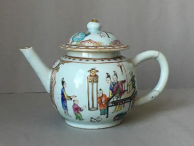 18th C  Antique chinese export Porcelain teapot Yongzheng period