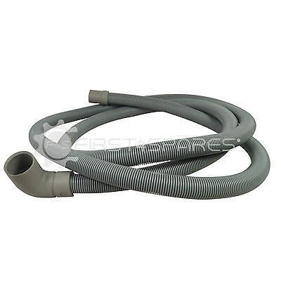 Compatible Dishwasher Drain Hose 2m Long 30mm, 90° Angle Cuff / 19mm 180° Cuff
