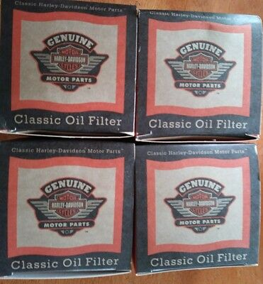 *(LOT OF Qty4)-Genuine Harley Spin-On Oil Filter Chrome OEM 63782-80T