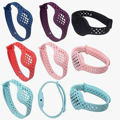Silicone Replacement Wrist Band Strap Holder For Moov Now 3D Fitness Tracker #BK