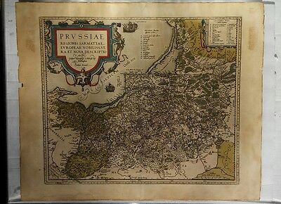 Ortelius Map of Prussia 1584