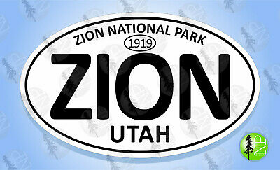 """CANYONLANDS NATIONAL PARK UTAH Oval Sticker Euro Travel Decal 3-5//8/"""" x 6/"""""""